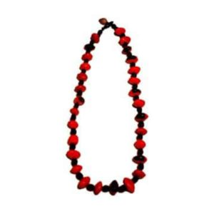 Collier artisanal en graines huayruro simple