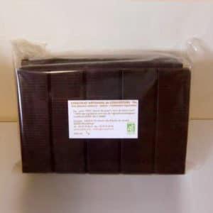 Chocolat noir de couverture 70% de cacao sans lecithine - bio
