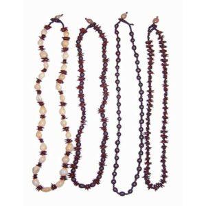 Collier artisanal en graines simples