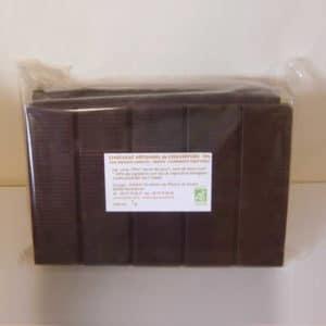 Chocolat noir de couverture 85% de cacao sans lecithine bio
