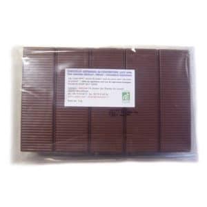 Chocolat au lait de couverture 40% de cacao sans lecithine bio