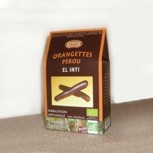 Orangettes bio confites enrobées de chocolat - Fabrication artisanale