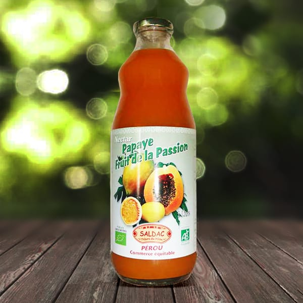 Nectar fruit de la passion et papaye bio