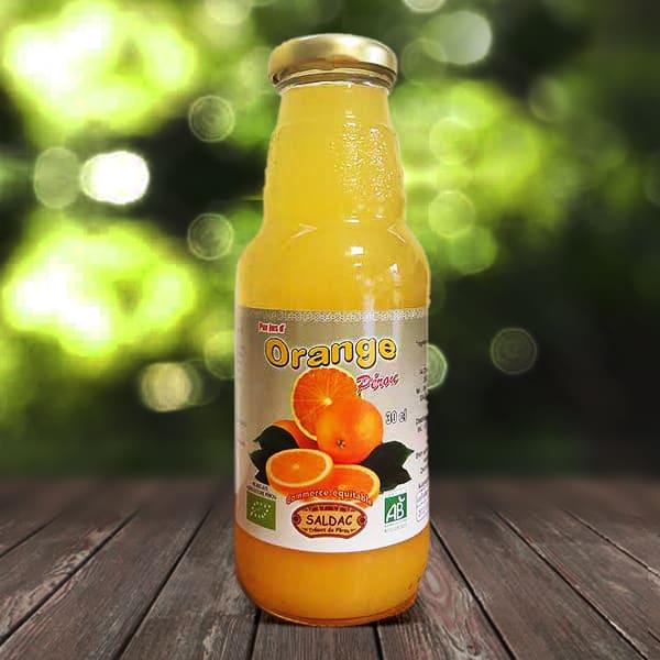 Pur jus d'orange bio pressé à la main, sans eau ni sucre