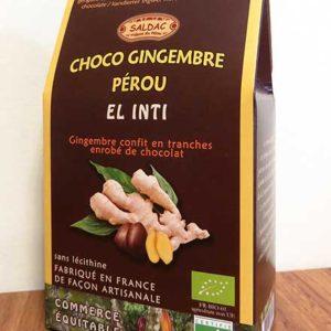 Choco Gingembre Pérou - Gingembre en tranches confit enrobé de chocolat