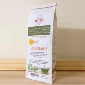 Maté au thé vert gingembre ginseng guarana biologique du brésil - paquet de 100g