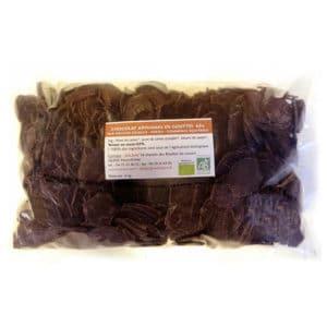 Chocolat noir de couverture en gouttes - 63% de cacao sans lecithine bio