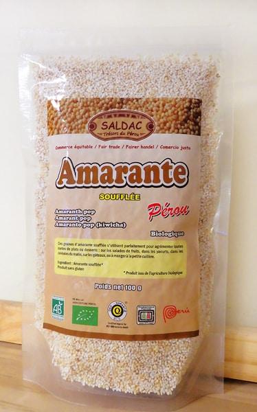 Amarante Soufflée Biologique du Pérou
