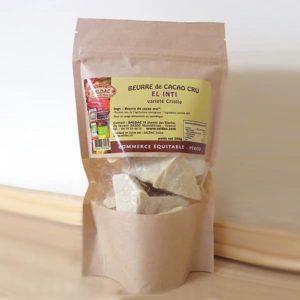 Beurre de Cacao cru biologique en morceaux El Inti variété Criollo
