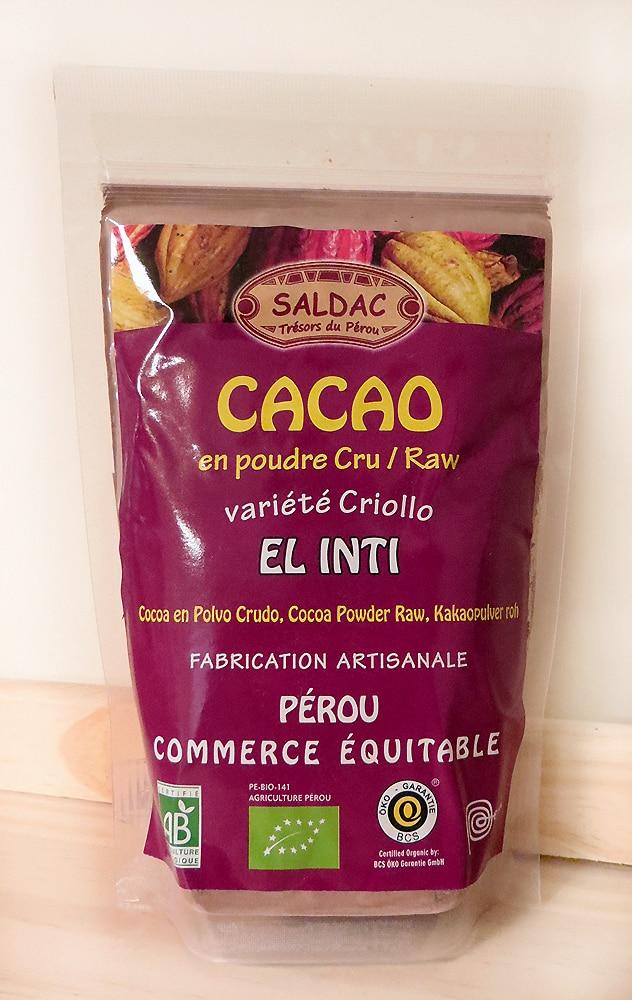 Cacao en poudre cru - Fabrication artisanale - El Inti