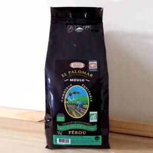 Café torréfié moulu biologique – Paquet de 1 kg