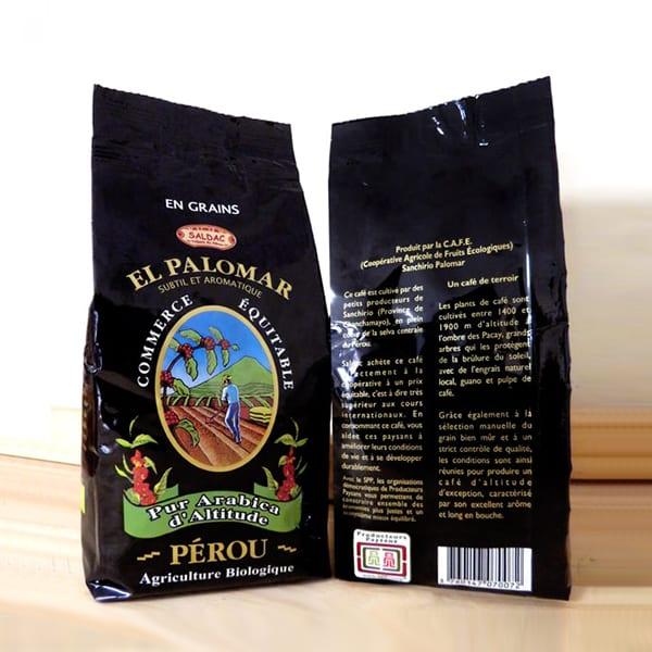 Café Torréfié biologique en grains - Paquet de 250g