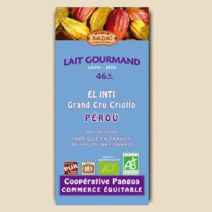 Chocolat Gourmande au lait - El Inti 46 % cacao
