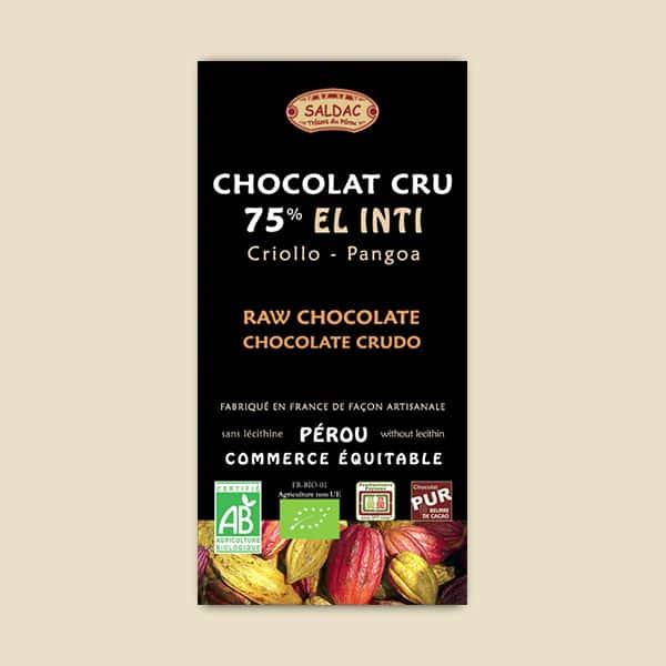 Chocolat Cru El Inti - 75%