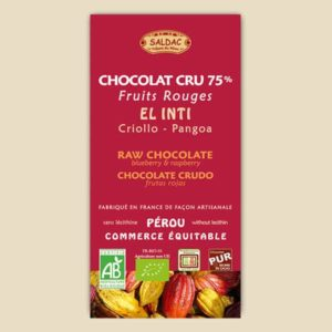 Chocolat Cru El Inti aux Fruits Rouges