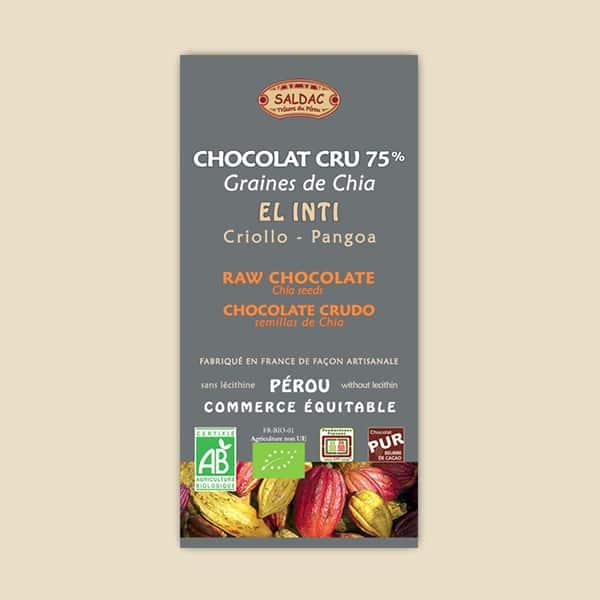 Chocolat Cru El Inti - Graines de Chia
