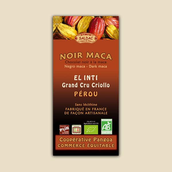 Chocolat El Inti - Chocolat noir à la maca issu du commerce équitable