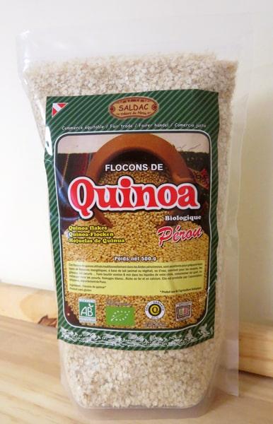 Flocons de Quinoa biologique - produit bio du Pérou - Sachet de 500 g