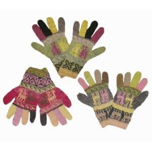 gants fins - teinture naturelle - modèle enfant