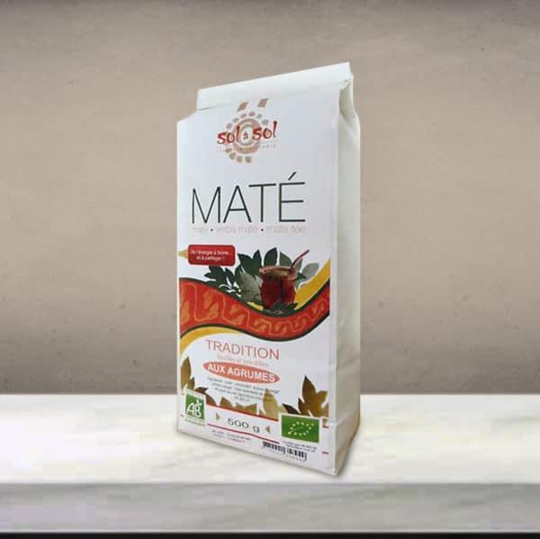 maté aromatisé aux agrumes biologique - Brésil - 500g