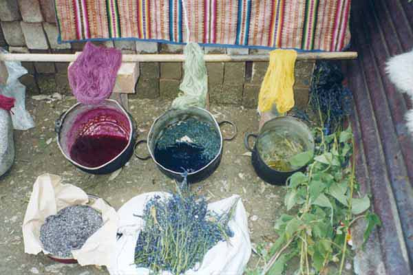 Colorants naturels extraits de plantes