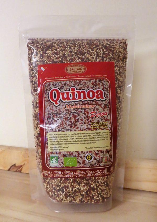 Quinoa Muticouleur bio du Pérou