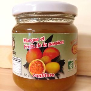 Confiture de mangue et fruits de la passion