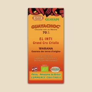 chocolat cru noir 75 pourcent de cacao graine de chia sans lecithine - bio