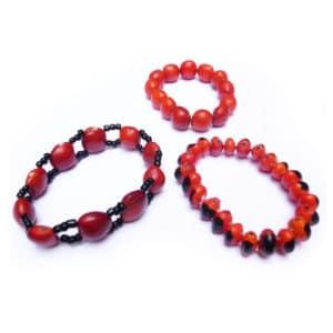 00167 - bracelets élastiques en graines huayruro