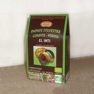 Papaye sylvestre enrobée de chocolat bio