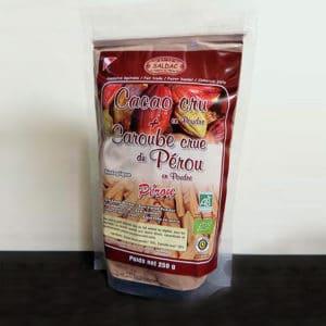 Cacao cru en poudre et caroube crue - bio - 250g